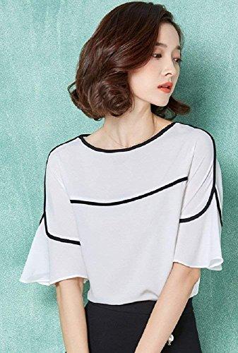 à moyen Sandales Voguezone009 couleurs talon Blanc Femme de Assortiment variées AFqEZ