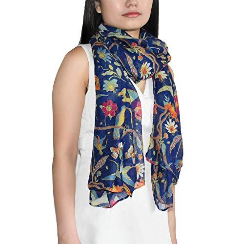 (Scarfs for Women, Elegant Lightweight Floral Birds Print Scarf Womens Scarves Shawl Head Wraps by Alckysir (Cyan))
