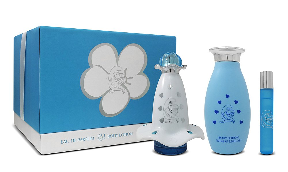 The Smurfs Smurfette Mania Eau de Parfum Spray and Body Lotion Gift Set First American Brands SMUSMUK93050001