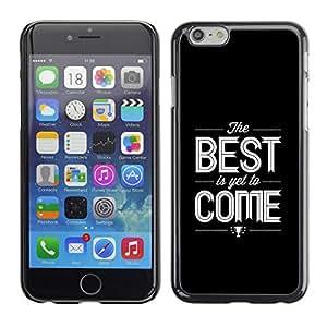 Paccase / SLIM PC / Aliminium Casa Carcasa Funda Case Cover para - Quote Black Text White Best - Apple Iphone 6