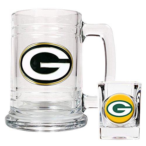 NFL Green Bay Packers Boilermaker Set (Primary Logo) -