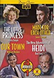Drama Classics- 4 Movies- The Little Princess/Made for Each Other/Our Town/Heidi