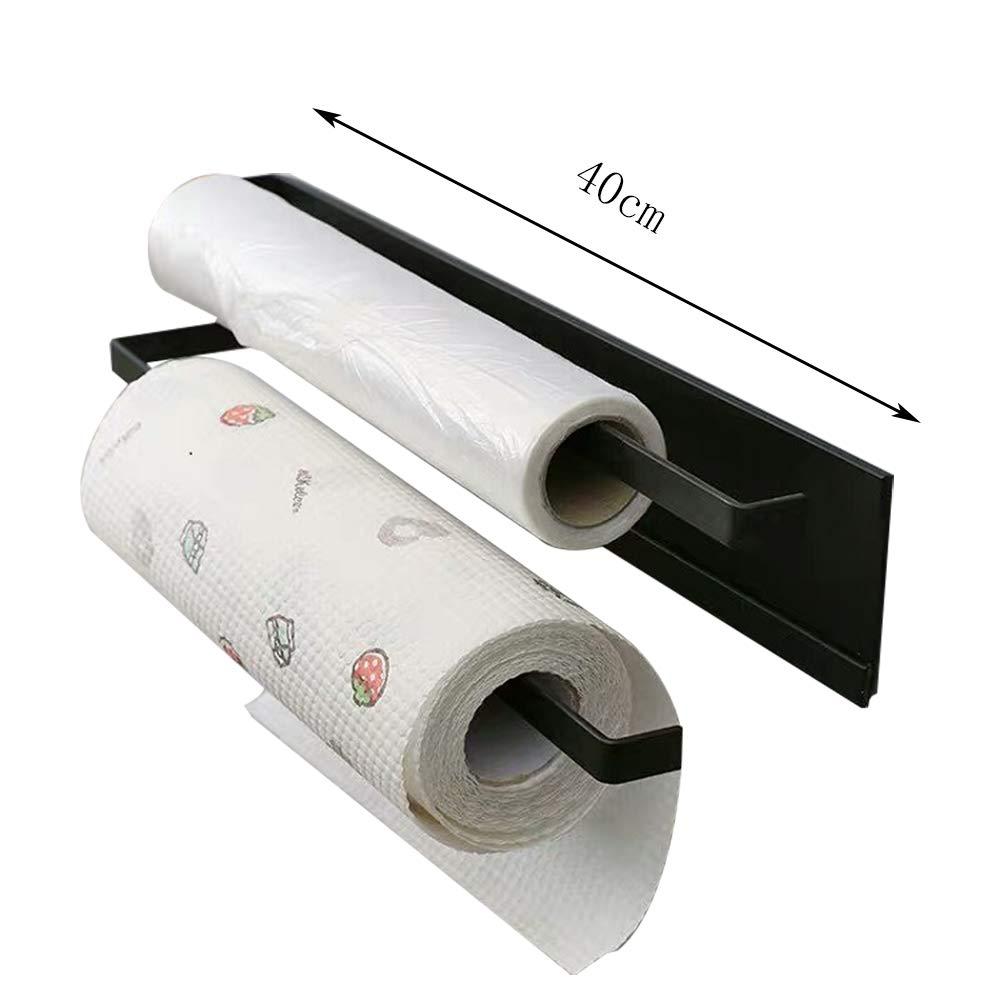 8cm,Black HYCZW Handtuchhalter Magnetischer Handtuchhalter Toilettenfreilochung Zweipolige Toilette Badezimmer K/üche Haken Lagerregal Gr/ö/ße 40
