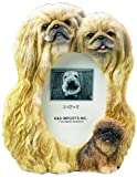 Pekingese Gift Picture Frame Holds Your Favorite 3x5 Inch Photo, A Hand Painted Realistic Looking Pekingese Family Surrounding Your Photo. This Beautifully Crafted Frame is A Unique Accent to Any Home or Office. The Pekingese Picture Frame Is The Perfect
