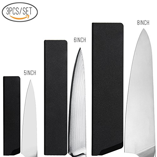 KITORY Universal Kitchen Knife Edge Guard Set for Chefs Knife,Santoku Knives, Utility...
