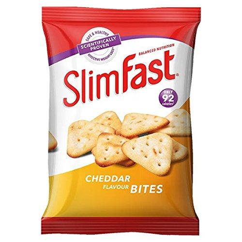 Slimfast Cheddar Bites Snack Bag, 12 X 22 G