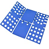 BoxLegend T shirt Clothes Folder T-shirt Folding Board Flip Fold Laundry Organizer Easy and Fast for Kid and Adult to Fold Clothes Blue