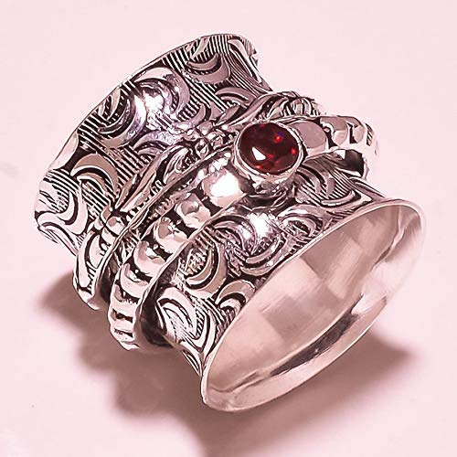 Anxiety Ring for Meditaion Meditationsringe Beautiful Designer Spinning Ring for Women Spinnerringe Silberringe f/ür Frauen 925 Sterling Silver Spinner Band Rings for Women