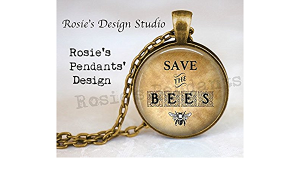 Minimal Bee Gift Save the Bee Activist Jewelry Honeybee and Bumble Bee Necklace Small Sterling Silver Bee Necklace