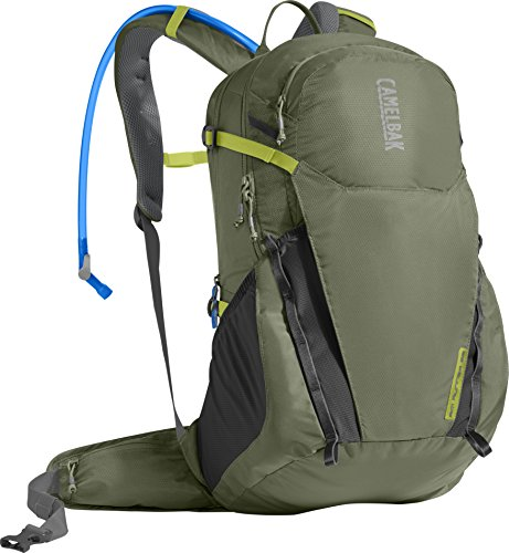 CamelBak Rim Runner 22 Crux Reservoir Hydration Pack, Lichen Green/Dark Citron, 2.5 L/85 oz