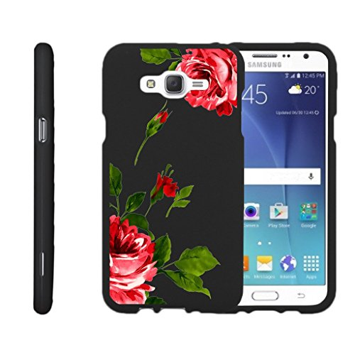 MINITURTLE Compatible with Samsung Galaxy J7 Case (2015) J700 Slim Cover [Snap Shell] Slim 2 Piece Snap On Hard Plastic Case Affectionate Flowers