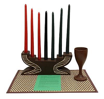 Kwanzaa Step Candleholder and Cebration Set - Handmade in Ghana