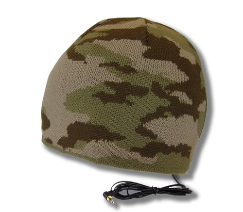 - TOOKS Brigade Camo Headphone Hat with Built-in Removable Headphones - Color: Desert Storm