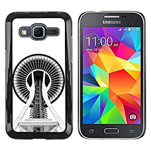 "For Samsung Galaxy Core Prime / SM-G360 Case , Configuración del edificio Space Needle"" - Diseño Patrón Teléfono Caso Cubierta Case Bumper Duro Protección Case Cover Funda"