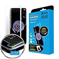 Galaxy S9+ Screen Protector Tempered Glass Shield (Replacement Only), Full Screen Coverage 3D Curved Dome Glass [Liquid Dispersion Tech] by Whitestone for Samsung Galaxy S9 Plus (No UV Light) by Whitestone
