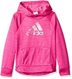 adidas Girls' Big' Pullover Sweatshirt, Real Magenta Heather, L (12/14)