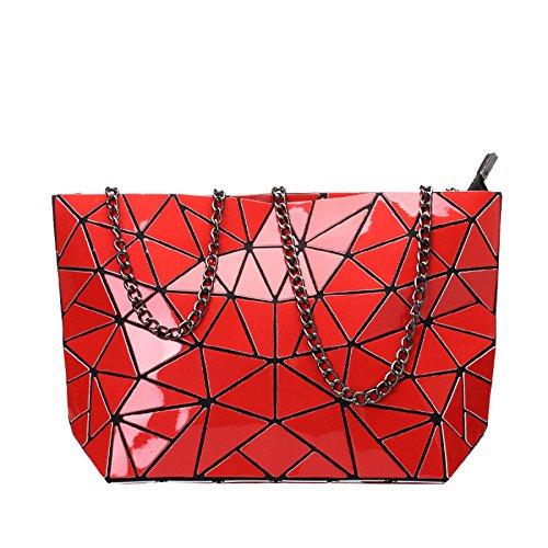 Summer Handbag Estilo Bag Red Bolso Seora Fashion Lingge Fashion Estilo Japons CY De PU YSqgn11