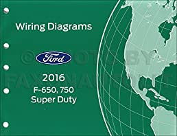 2016 ford f 650 and f 750 super duty truck wiring diagram manual rh amazon com