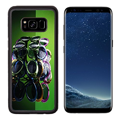 MSD Premium Samsung Galaxy S8 Aluminum Backplate Bumper Snap Case IMAGE ID: 5328440 Multicolored sunshades so you can party - Eyewear Sunshades
