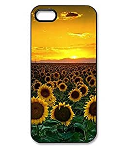 Sunflowers Love Life Slim Case Plastic Back Cover For Apple Iphone 5 5S by Maris's Diary