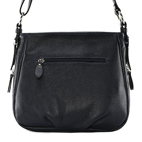 Sac Bleu OH femme MY BAG Fonce main cuir à Modèle Rimbaud 1UwqU