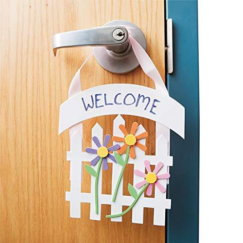 S&S Worldwide Welcome Door Hanger Craft Kit - Set of 12 ()
