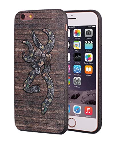 iPhone 6 Case,iPhone 6S Case,Browning Camo Deer Hunter with Bow Design Slim Anti-Scratch Leather Grain Rubber Protective Case for Apple iPhone 6/iPhone 6S 4.7 inch ()