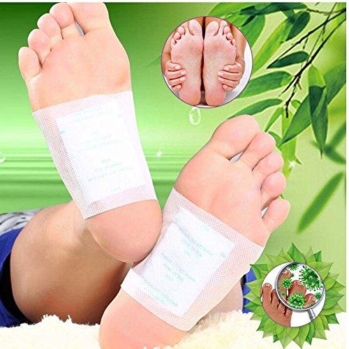 100 Pcs Detox Foot Patches, Finlon Detox Foot Pads Foot Detox Pads Body Detox Body Cleanse Patches Cleansing Detox Foot…