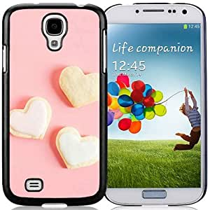 New Beautiful Custom Designed Cover Case For Samsung Galaxy S4 I9500 i337 M919 i545 r970 l720 With Romance Sweet Love Heart Shape Dessert Phone Case