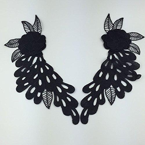 D DOLITY シャツ ブラウス ドレスの装飾 クラフト 手芸用 DIY装飾 ヴェネツィア風 レース アップリケの商品画像