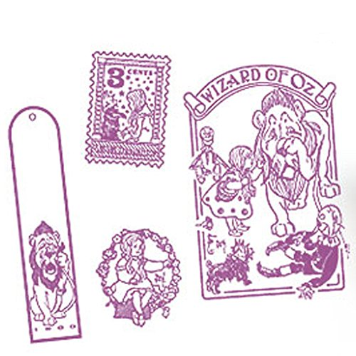 The Wizard of Oz Dorothy Stamps Wooden Stamp Set (4-Piece) with Tin Box (Pattern 4)