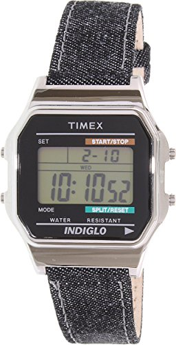 Timex Unisex TW2P77100AB Heritage Collection Digital Display Quartz Black Watch