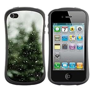 Hypernova Slim Fit Dual Barniz Protector Caso Case Funda Para Apple iPhone 4 / iPhone 4S [ Neige]