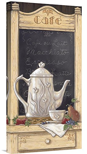 Global Gallery Budget GCS-125702-1224-142 Janet Kruskamp Coffee 'N Fruit I Gallery Wrap Giclee on Canvas Print Wall Art