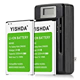 YISHDA Note 3 Battery, 2x3200mAh Replacement Samsung Galaxy Note 3 Batteries with Galaxy Note 3 Charger for N9000 N9005 N900A N900V N900P N900T | Samsung Note 3 Spare Battery Kit [18 Month Warranty]