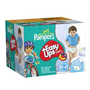 Amazon.com: Pampers Easy Ups Boys Diapers Big Pack, 60