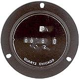 ENM Company T50B1 , Hour Meter, Quartz, 2.8 in. Round, < 0.4 Watts, 230 VAC, AC, 6 digit
