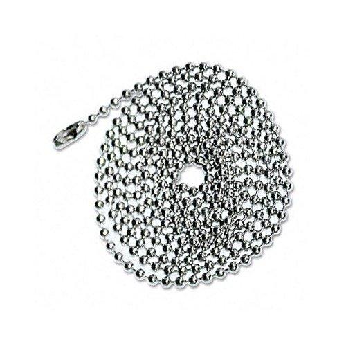 ADVANTUS 36-Inch Nickel-Plated, Beaded ID Badge Holder Chain, 100 Chains per Box (75417)