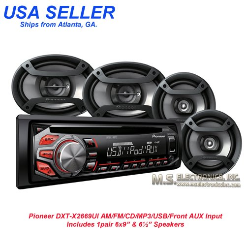 Pioneer DXT-X2669UI AM/FM/CD/MP3/USB/AUX IN-PUT, 200 WATTS