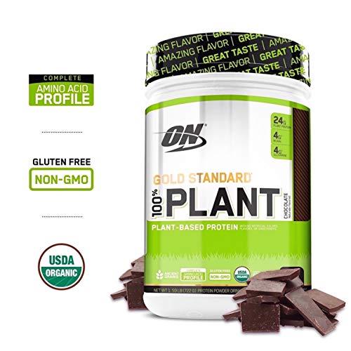 Optimum Nutrition Gold Standard 100% Plant Based Protein Powder, Chocolate, 1.59 Pound