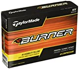 TaylorMade 2017 Burner Golf Balls Yellow Golf Ball, Yellow (One Dozen)