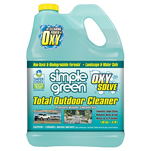 SIMPLE GREEN Oxy Solve Total Outdoor Pressure Washer Cleaner - Removes Stains from Mold, Mildew & Dirt on Patios, Outdoor Rugs & Furniture - Cleans RVs, Boats & Vehicles - Concentrate 1 Gal. (Patio Stone Cleaning Pavers)