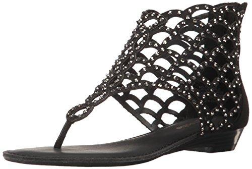 ZiGi NY Women's Melaa Flat Sandal - Blk Suedett 12a - 9 B...