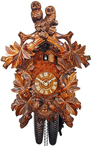 German Cuckoo Clock 8-day-movement Carved-Style 18.00 inch – Authentic black forest cuckoo clock by August Schwer