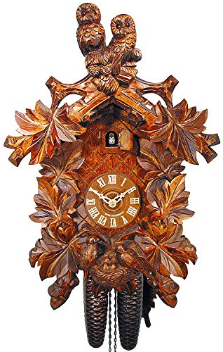 German Cuckoo Clock 8-day-movement Carved-Style 18.00 inch - Authentic black forest cuckoo clock by August ()