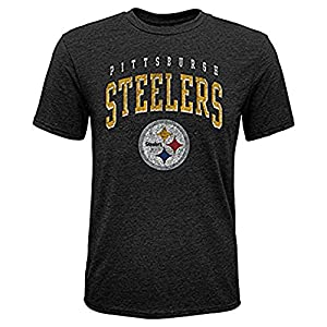 Pittsburgh Steelers OuterStuff Youth Black Tri Blend Wheelhouse Shirt