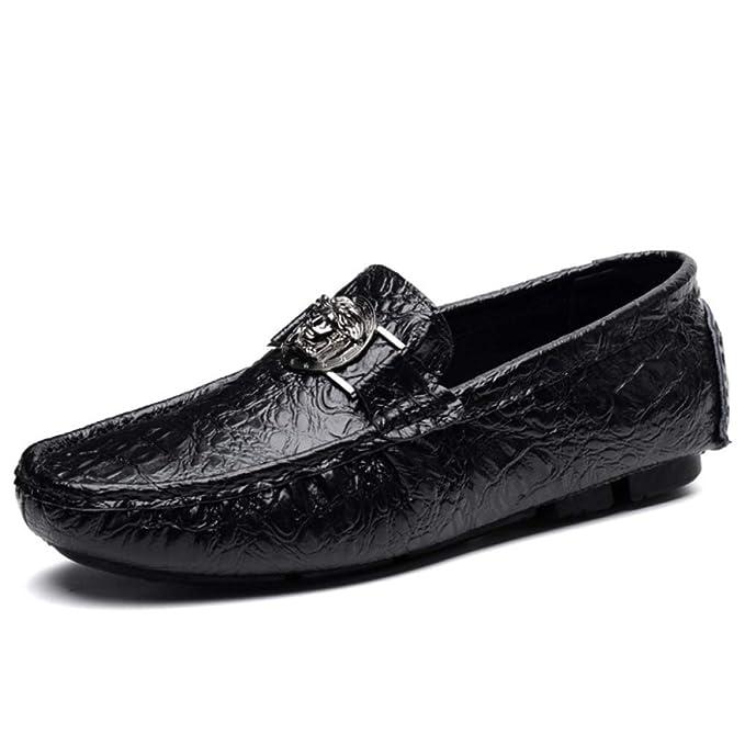 Zapatillas De Mocasín Para Hombres Zapatillas De Mocasines Con Suela De Goma Para El Interior De Espuma De Memoria Casa: Amazon.es: Ropa y accesorios