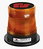 Federal Signal 212664-02SB Class 1 Pulsator LED, Suction-Cup Magnetic Mount with Cigarette Plug, Tall Dome, Amber