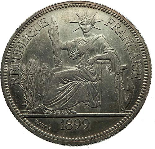 - 1899 unknown 1899 A FRENCH INDO-CHINA Antique BIG AR Piastre C coin Good Uncertified