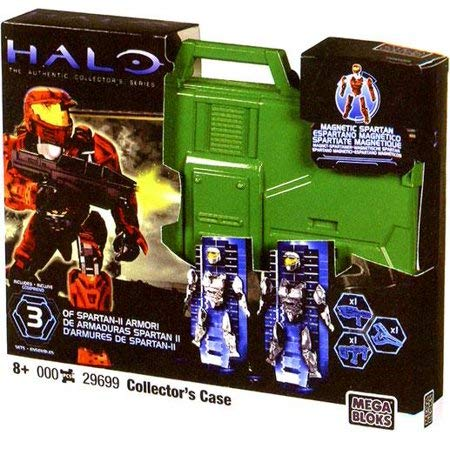 Mega Bloks Halo Spartan Armor Action Figure Collector's Case (Green Case)